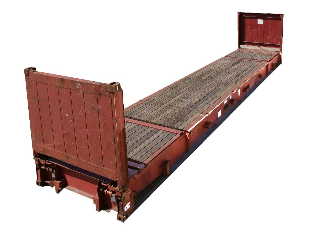 40ft collapsible-end flat rack container